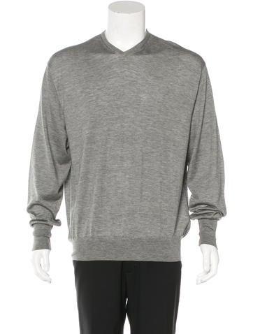 Loro Piana Woven V-Neck Sweater None