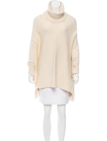 Loro Piana Cashmere Turtleneck Poncho None