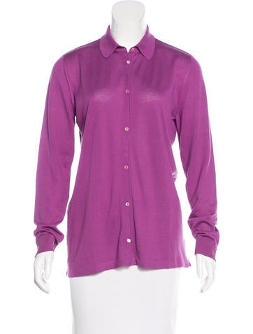 Loro Piana Knit Button-Up Top None
