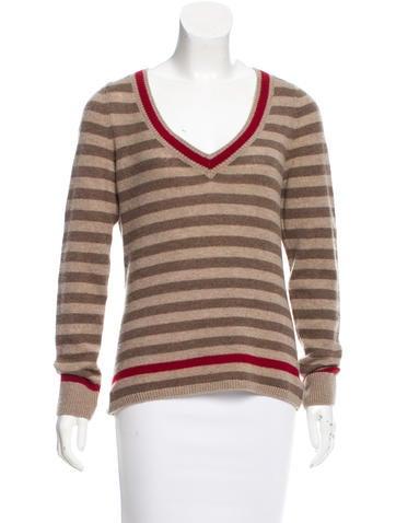Loro Piana Striped Cashmere Sweater None