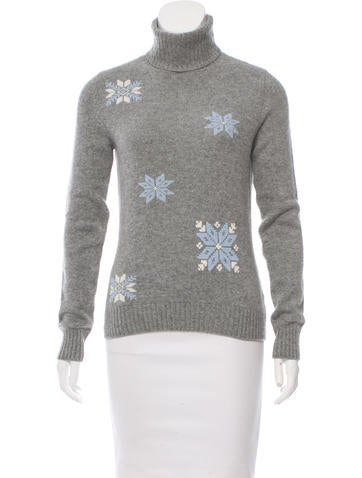 Loro Piana Cashmere Snowflake Sweater None