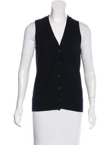 Loro Piana Sleeveless Cashmere Cardigan None