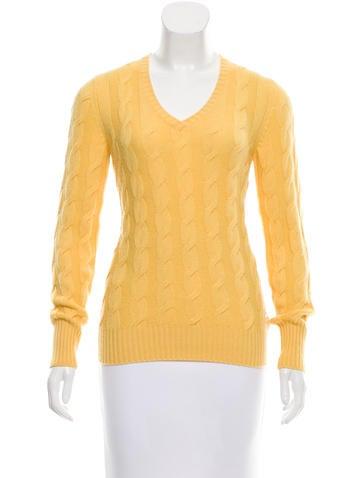 Loro Piana Cashmere Cable Knit Sweater None