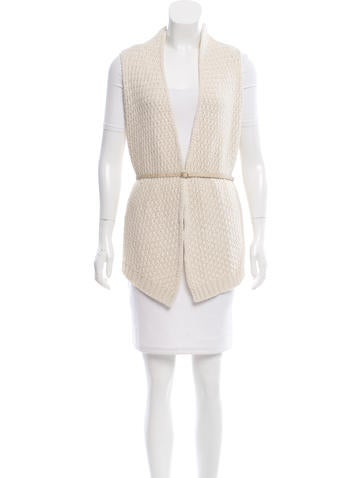 Loro Piana Sleeveless Belt-Accented Cardigan None