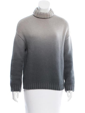 Loro Piana Ombré Cashmere Turtleneck Sweater None