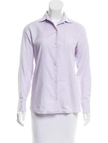 Loro Piana Long Sleeve Button-Up Top None