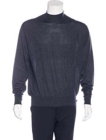 Loro Piana Cashmere Mock Neck Sweater None
