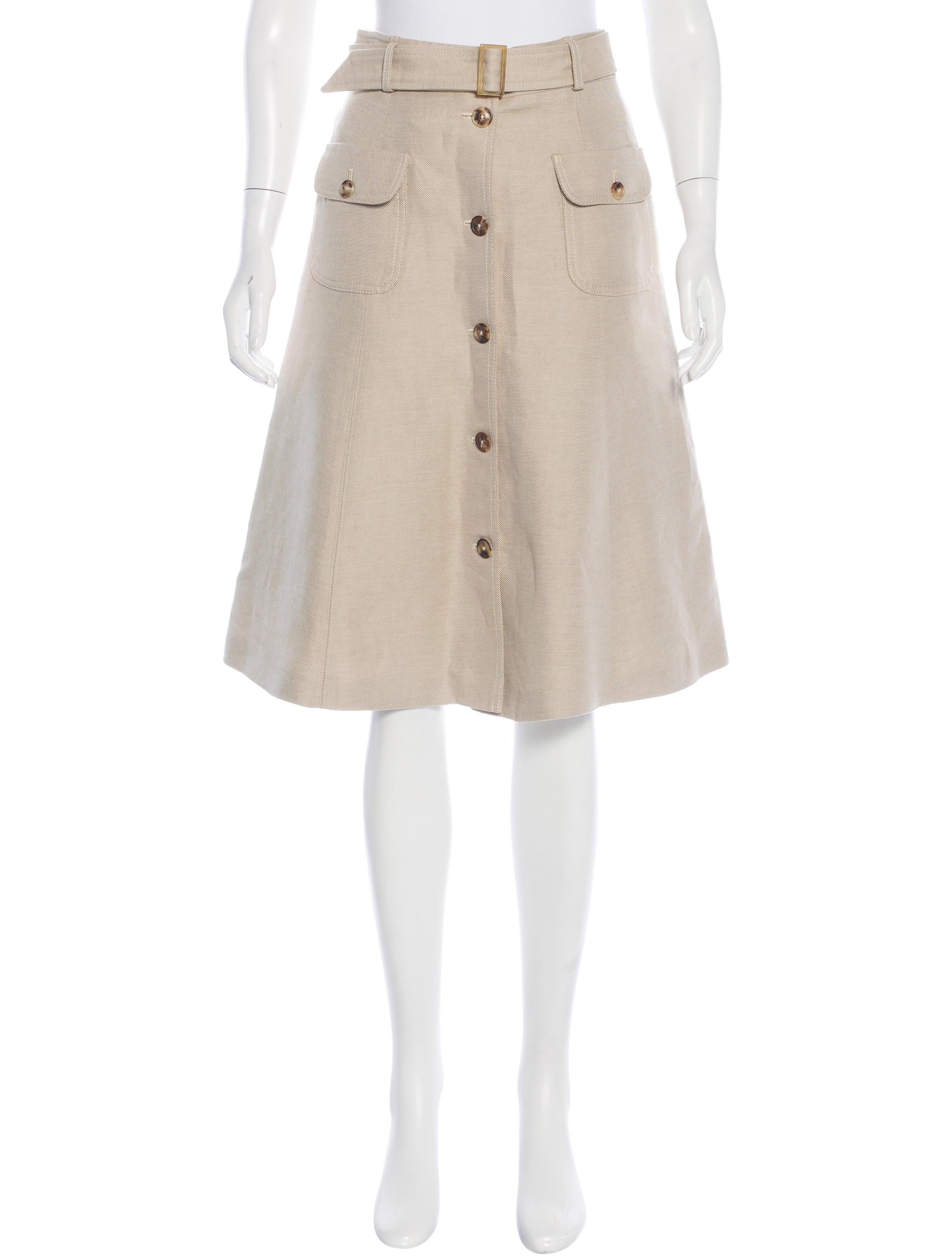 loro piana linen a line skirt skirts lor33676 the