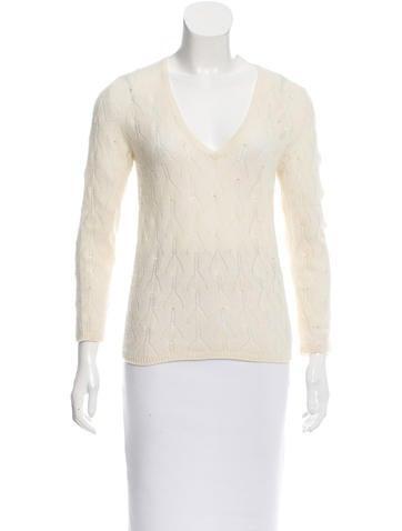 Loro Piana Embellished Cashmere Sweater None