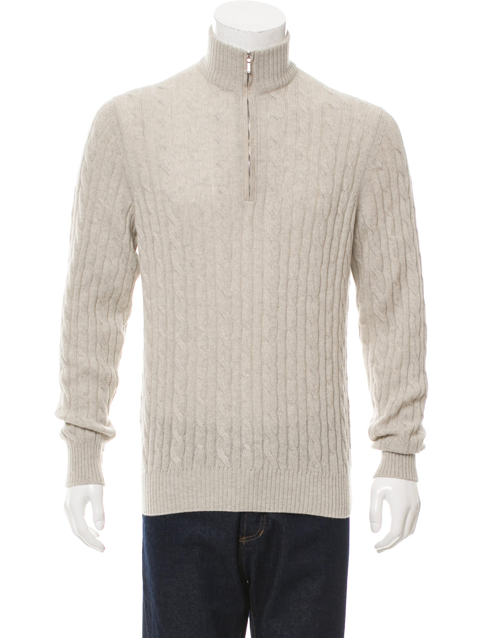 5344822f6 Loro Piana Suede-Trimmed Baby Cashmere Sweater - Clothing - LOR34315 ...
