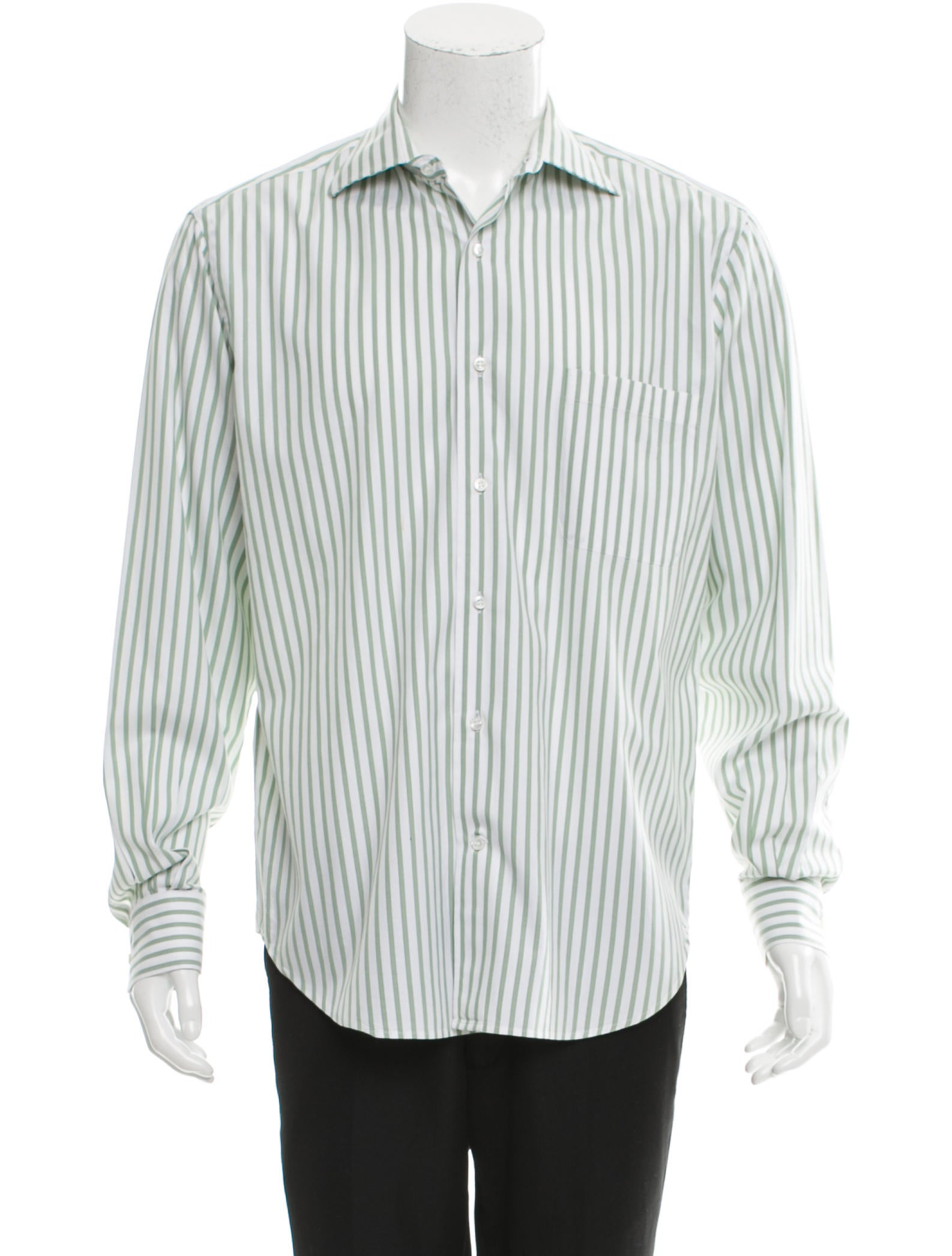 how to wear a striped button up shirt