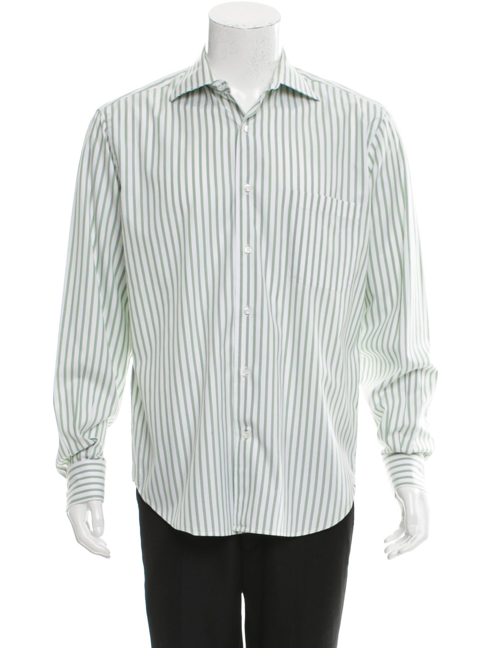 Loro piana striped button up shirt clothing lor34440 for Striped button up shirt mens