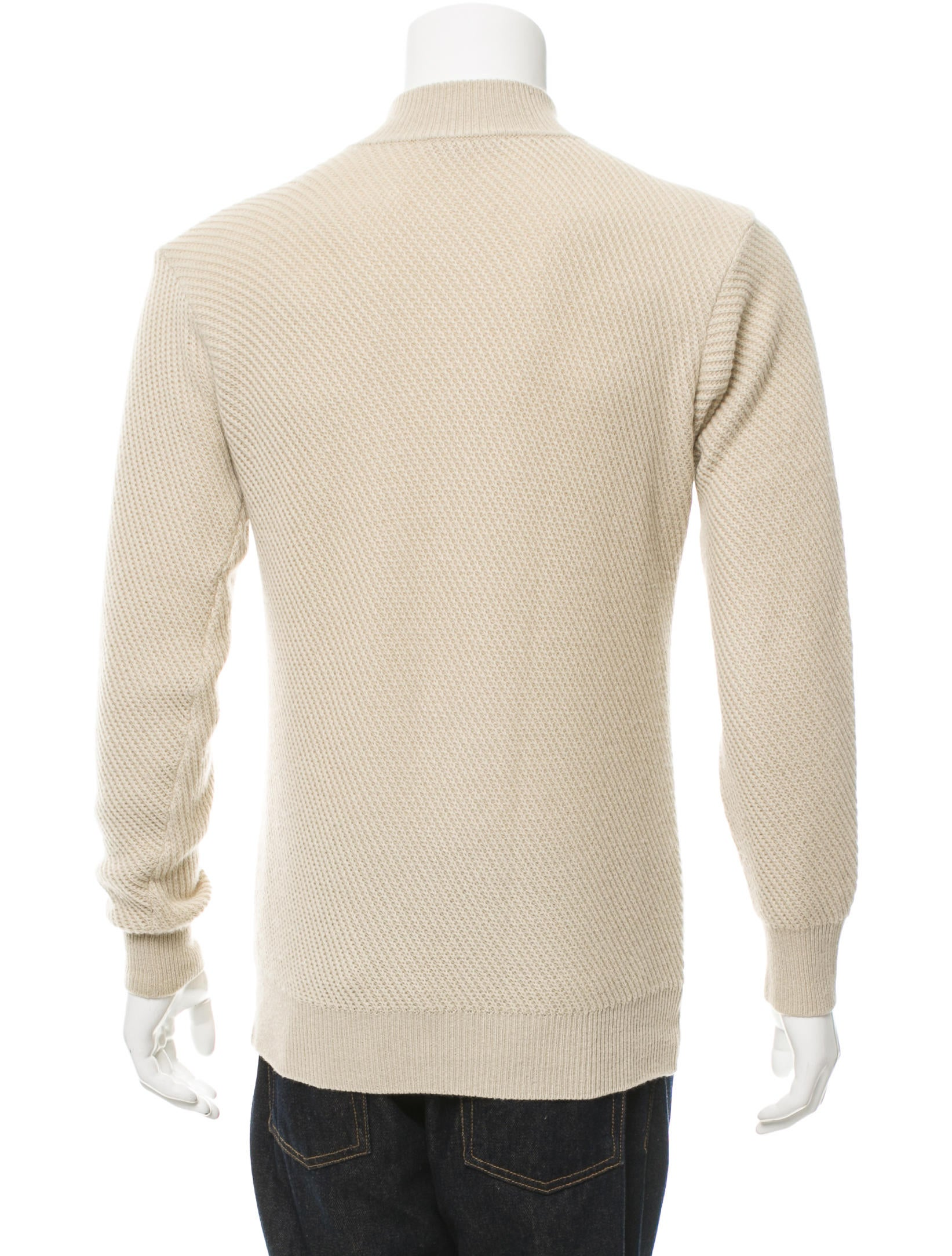 Loro Piana Rib Knit Half-Zip Sweater - Clothing - LOR34488 ...