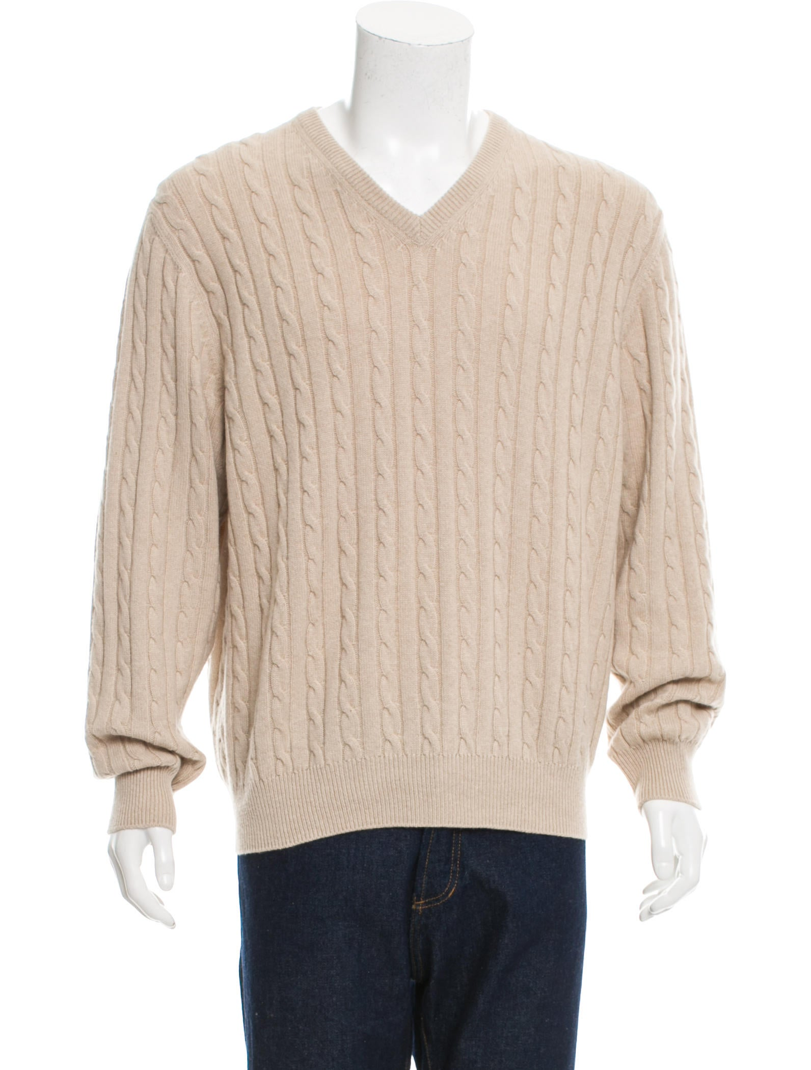 Loro Piana Baby Cashmere Cable Knit Sweater - Clothing - LOR35049 ...