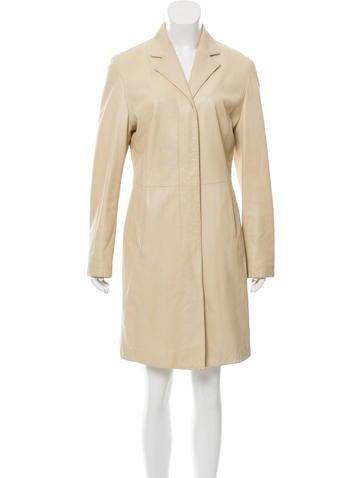 Loro Piana Notch-Lapel Leather Coat None