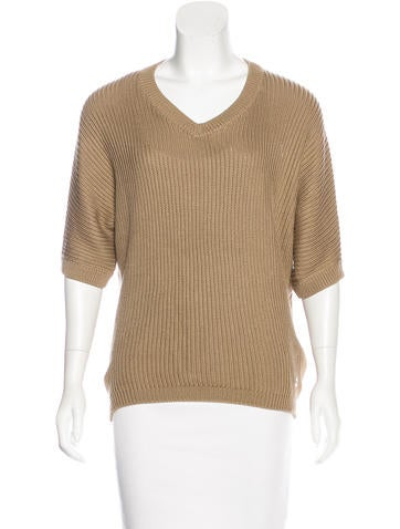 Loro Piana Silk-Blend Rib Knit Sweater None