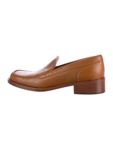 free shipping exclusive best sale sale online Loro Piana Leather Square-Toe Loafers free shipping discount KfP3Q4Z