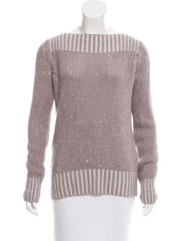 Loro Piana Cashmere Bateau Neck Sweater None