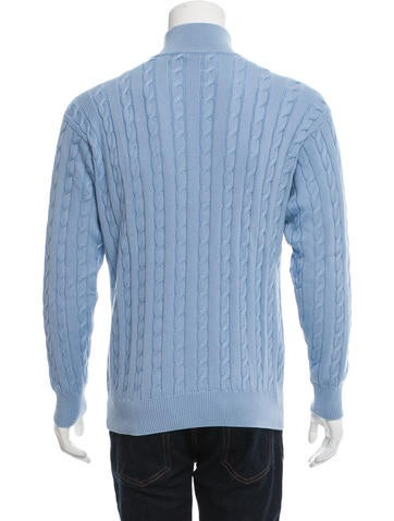 Loro Piana Cable-Knit Half-Zip Sweater w/ Tags - Clothing - LOR36626 The Re...