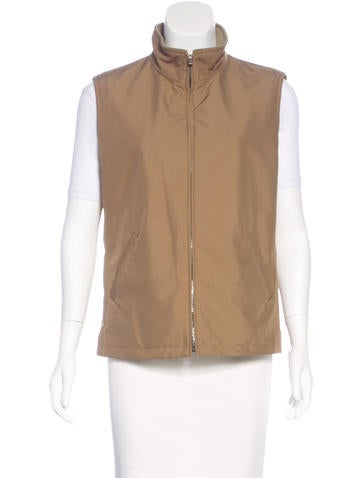 Loro Piana Woven Zip-Up Vest None