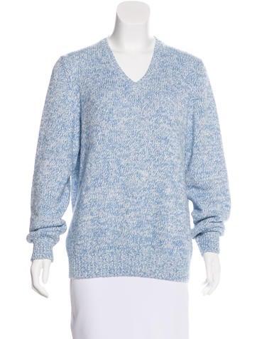 Loro Piana V-Neck Knit Sweater None