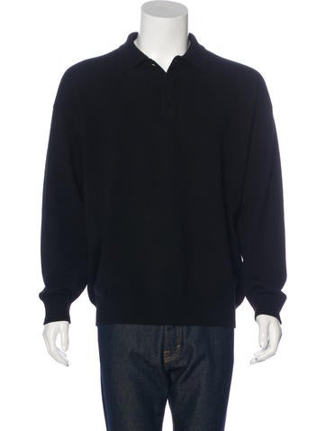 Loro Piana Cashmere Polo Sweater None
