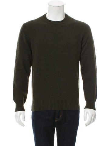 Loro Piana Cashmere Suede-Trimmed Sweater None
