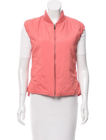 Loro Piana Quilted Zip-Up Vest None