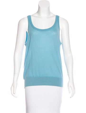 Loro Piana Sleeveless Cashmere Top None