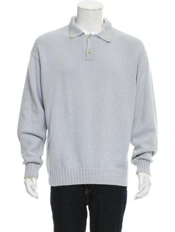Loro Piana Rib Knit Polo Sweater None