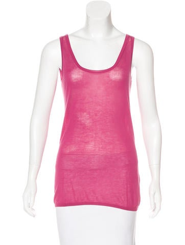 Loro Piana Knit Sleeveless Top None