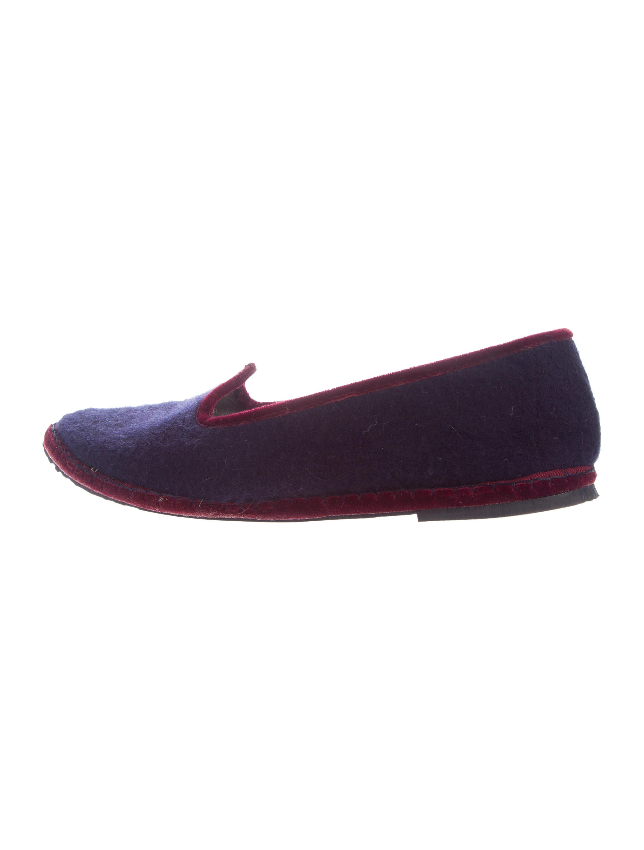 612094a22a8 Loro Piana Cashmere Pointed-Toe Loafers - Shoes - LOR38156