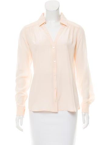 Loro Piana Silk Button-Up Top None