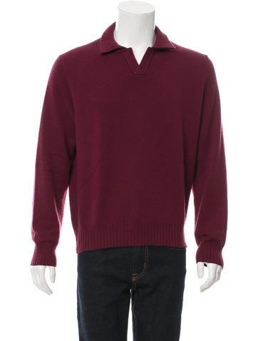Loro Piana Suede-Trimmed Cashmere Sweater None