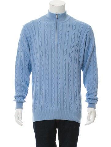 Loro Piana Cable Knit Half-Zip Sweater None