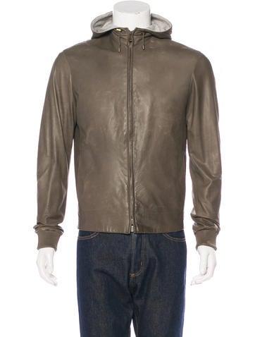 Loro Piana Leather Zip-Up Jacket None