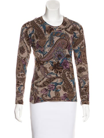 Loro Piana Paisley Print Top None