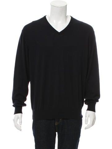 Loro Piana Rib Knit V-Neck Sweater None
