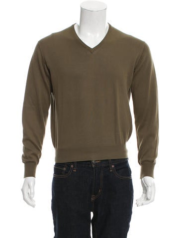 Loro Piana Rib Knit V-Neck Sweater None