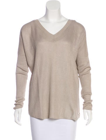 Loro Piana Silk-Blend V-Neck Sweater None