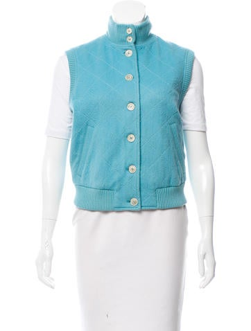Loro Piana Quilted Button-Up Vest None