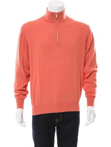 Loro Piana Rib Knit Half-Zip Sweater None