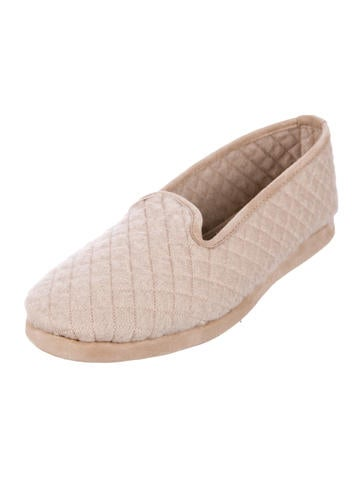 Loro Piana Quilted Cashmere Slippers w/ Tags