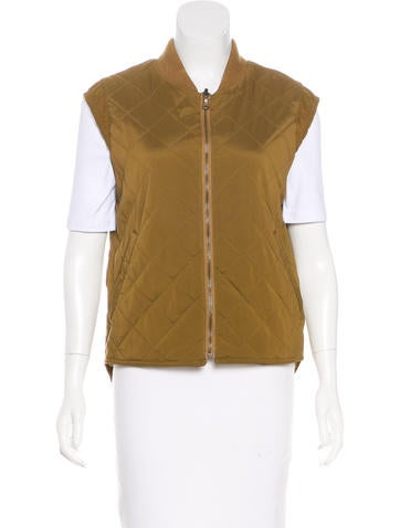 Loro Piana Quilted Zip-Front Vest None