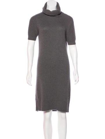 Loro Piana Cashmere Knit Knee-Length Dress None