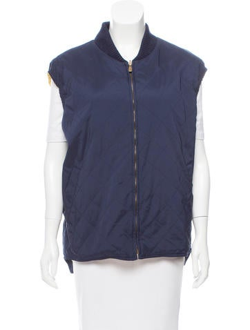 Loro Piana Knit-Trimmed Quilted Vest None