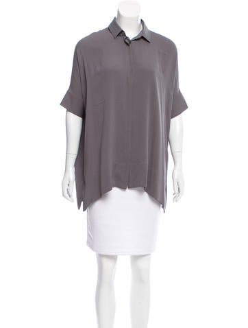 Loro Piana Silk Short Sleeve Top None