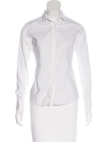 Loro Piana Striped Button-Up Top None