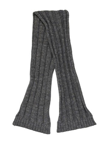 Loro Piana Rib Knit Scarf None