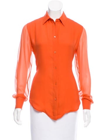 Loro Piana Long Sleeve Button-Up Top None